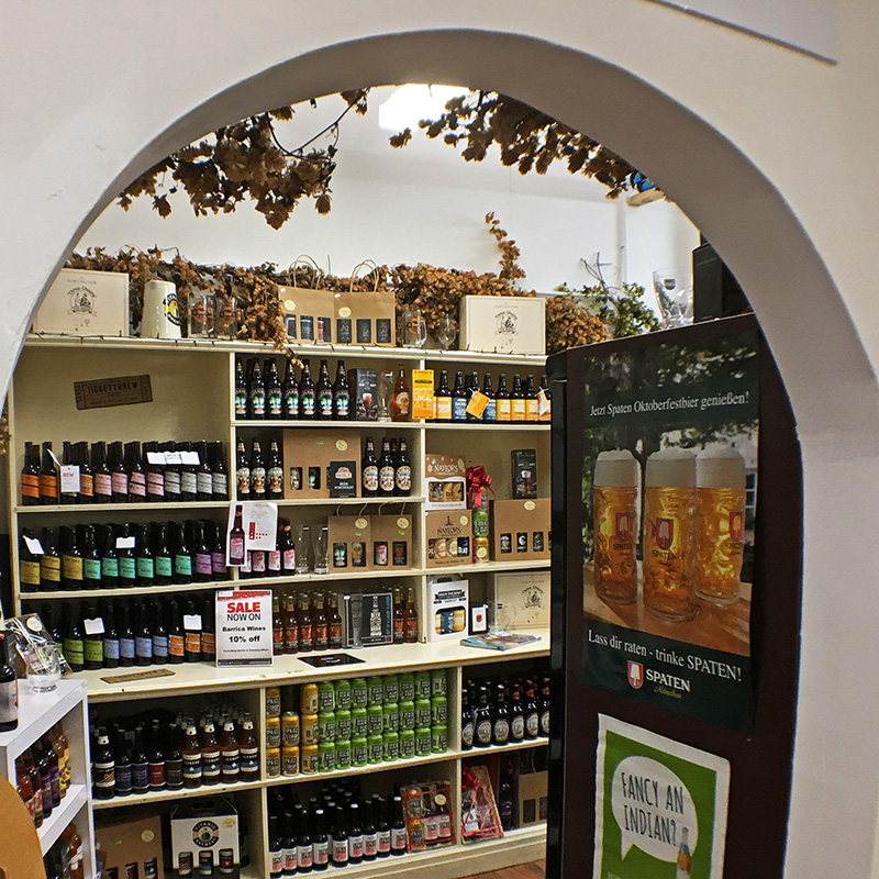 The entrance to the Beer Room at Barrica Wines, Chorley